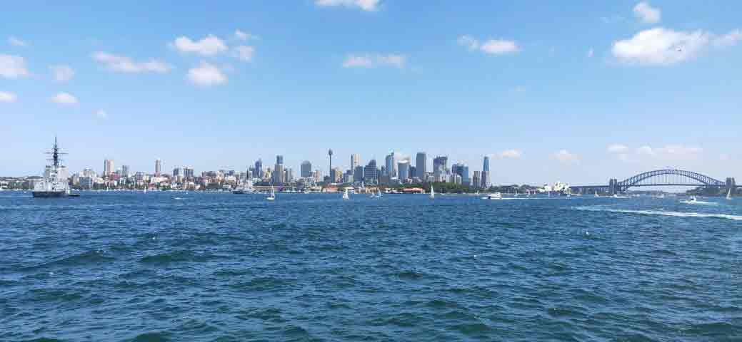 Sydney harbour with the Opera House and Sydney Harbour Bridget in the background
